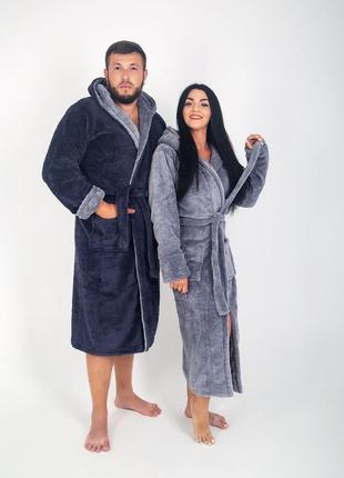 Семейный комплект, парные махровые халаты