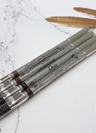 Водостойкий карандаш для бровей dior diorshow waterproof powder eyebrow pencil