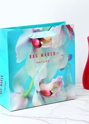 Красивый пакет с орхидеями
