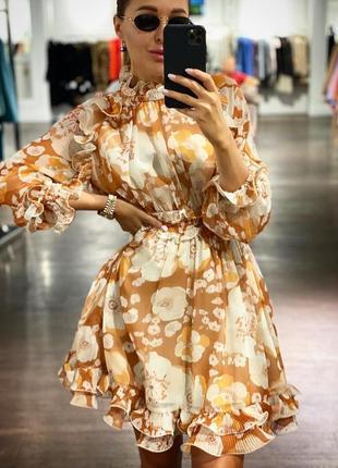 Шифоновое нежное платье турция