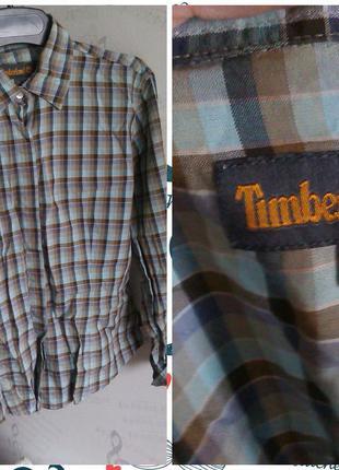 Женская рубашка в клеточку, timberland, м-l