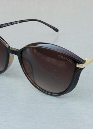 Chanel очки женские солнцезащитные коричневые стильные