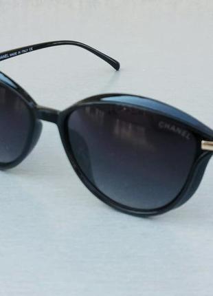 Chanel очки женские солнцезащитные черные глянцевые