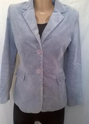 Вельветовый  пиджак на подкладке от in extenso,40 размер
