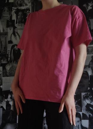 🌻 розовая фуксия футболка fruit of the loom