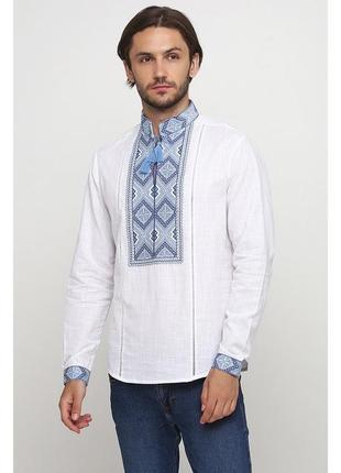 Вышиванка вишита сорочка з вишивкою льон р.46-56 (s-3xl) кольори