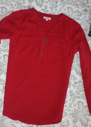 Блузка с молнией спереди
