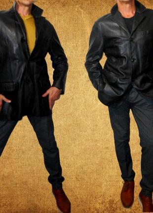 Брендовый кожаный пиджак.mauritius.