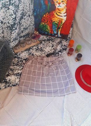 8. классная юбка в клетку с поясом на талии new look спідниця в клітинку #распродажа sale