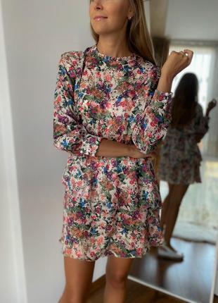Сукня в квітковий принт осінь 2020