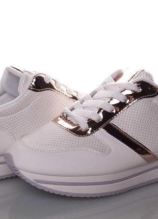 Распродажа последних пар весенней коллекции!!! классные ,белые кроссовки девочке -36-37