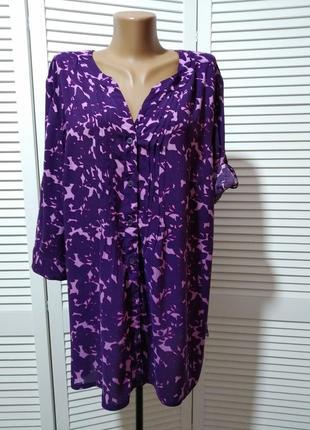 Блузка с рисунком из вискозы