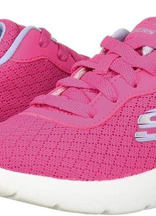 Стильные детские кроссовки на шнуровке skechers для девочки