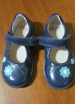 Кожаные туфли, балетки clarks англия