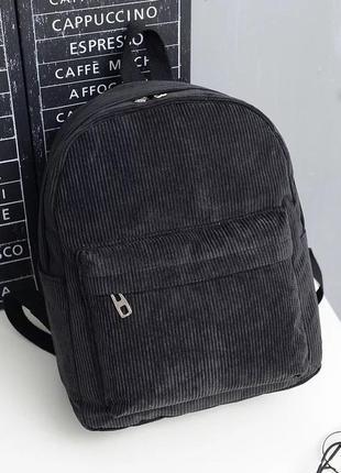 Чёрный рюкзак чёрный портфель 2020 хит тренд