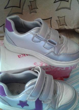 Кроссовки   *серебро * для девочки