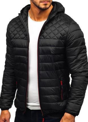 Мужская стеганая курточка! демисезонная куртка с капюшоном! курточка весна,осень!