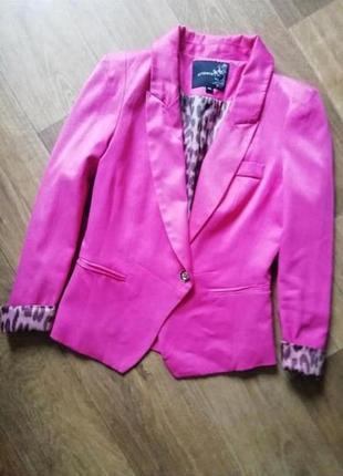 Пиджак цвета фуксия, жакет, блейзер, кардиган, курточка, куртка, ветровка