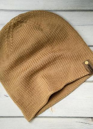 Вязаная шапка бини ручной работы