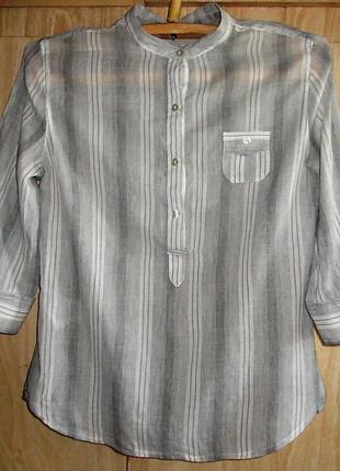 Батистовая натуральная блузка, размер м