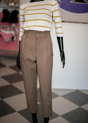 Свободные брюки чинсоны с высокой посадкой от wearme