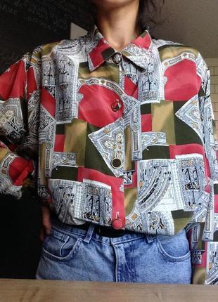 Потрясающая винтажная рубашка в размере l-xl