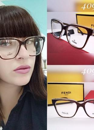 Женские очки fendi для имиджа, компьютерные, стильная оправа под вставку линз!