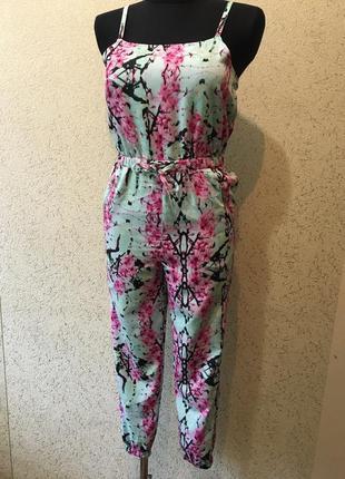 Чудесный легкий комбинезон со штанами летний лёгенький женский