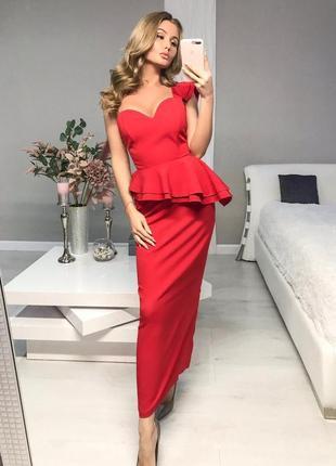 Платье, платье женское, вечернее платье, нарядное платье, красное платье