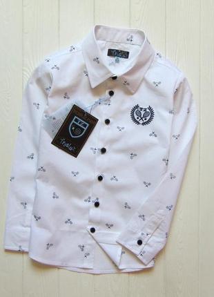 Trasluz. размеры 8 лет и 10 лет. новая шикарная рубашка для мальчика