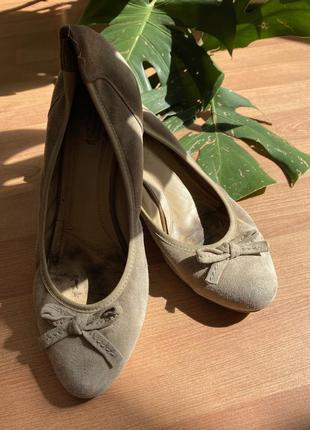Балетки туфли замшевые размер 40