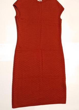 Женское шерстяное платье rito m-l 46-48р шерсть женский сарафан вязаное платье