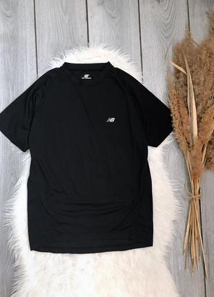 🔥акция 1+1=3🔥 new balance  футболка оригинал чёрная унисекс спортивная фирменная s 36 8