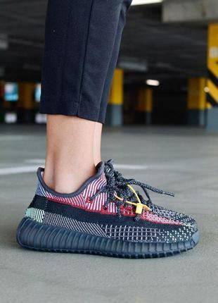Шикарные женские кроссовки adidas yeezy boost 350 v2 yecheil full reflective