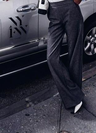 Zara шерстяные брюки, кюлоты, палаццо, штаны, натуральная шерсть, классические брюки