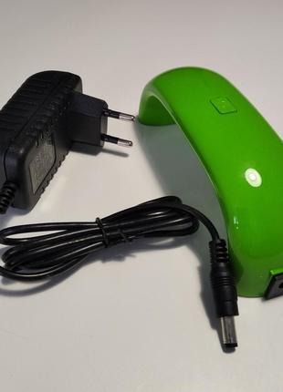 Лэд-лампа для маникюра, зеленая.