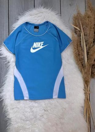 Nike найк оригинал футболка спортивная синяя спереди лого xxs 32 4 xs 34 6 s 36 8
