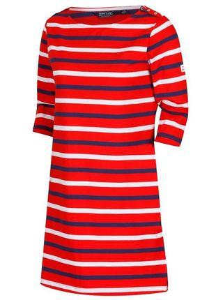 Фирменное коттоновое  трикотажное платье с длинным рукавом regatta