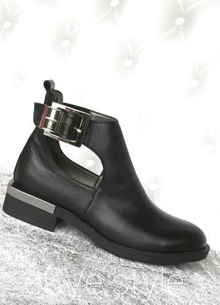 Туфли женские из натуральной кожи.