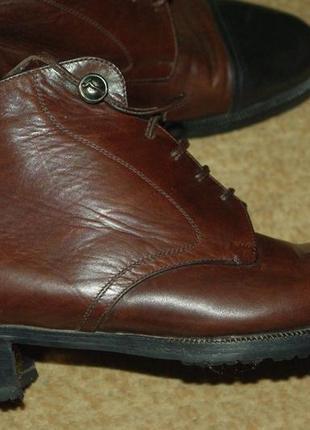 Ботинки тёплые кожаные италия 35-36