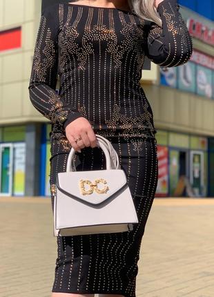 Бежевая сумка dolce gabbana