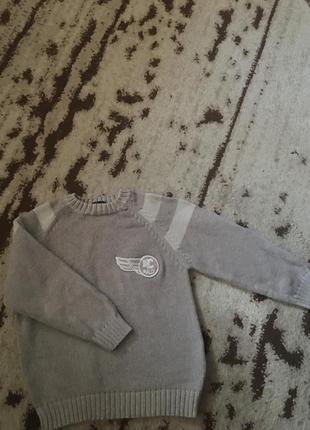 Классный свитер реглан хлопковый на мальчик рост 128