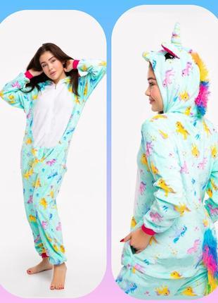 Есть скидка.женская пижама комбинезон кигуруми единорог. есть скидка