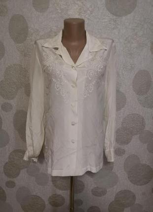 Винтажная шелковая вышитая блуза