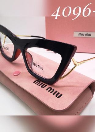 Стильные женские очки имиджевые miu miu, оправа