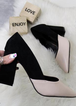 Туфли женские устойчивый каблук