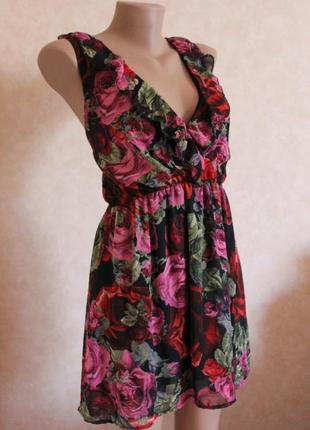Шикарное платье в цветы zebr