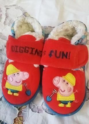 Детские тапочки с свинкой пепой, размер 23