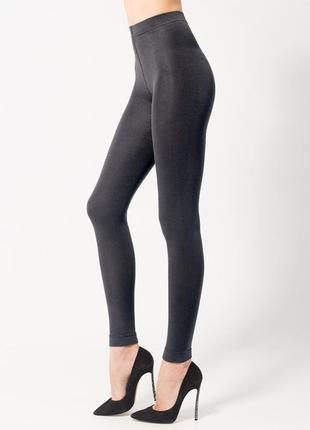 Теплые женские леггинcы черного цвета тм legs 661 siberia leggings 250