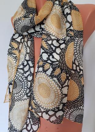 Шелковый шарф брендовый*элитный fox&chave(размер 180 см на 52 см)